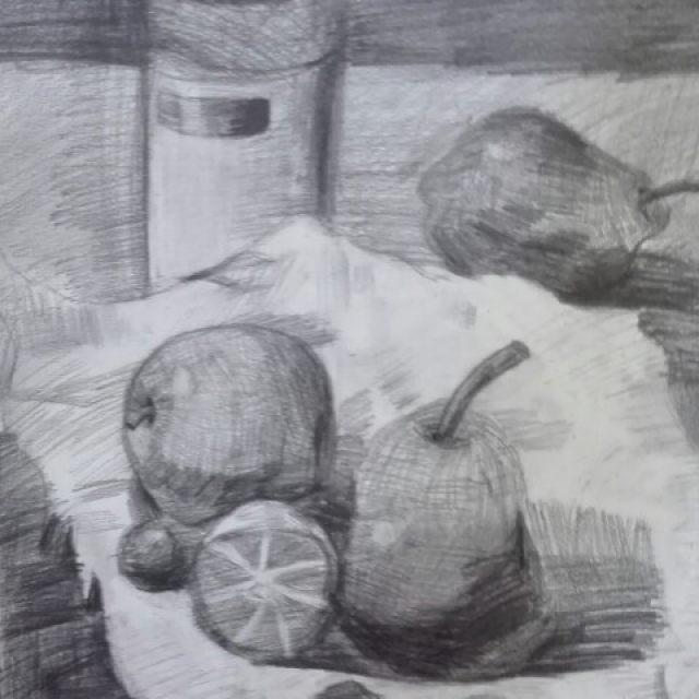 素描梨的画法步骤
