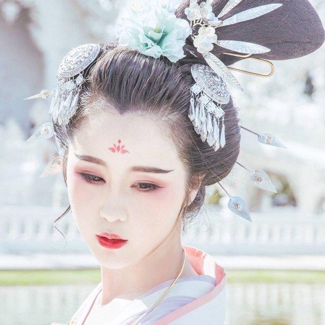 西子古风#唐风发型·妆面过程直播97(来自 .