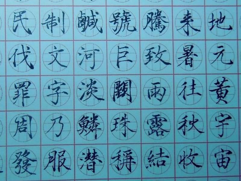 井圆格书法练字的直播:井圆格书法教程回放图片