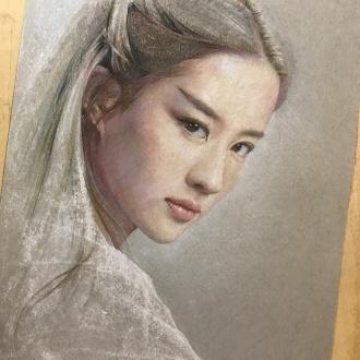 彩铅人物-刘亦菲7