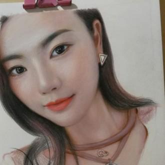 桃子彩铅手绘
