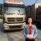 #东风天龙#来看天龙哥酷炫的卡车漂移