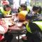 #铁骑返乡#@中国石油 福建龙岩龙机加油站,铁骑们享受站长亲手做的土猪肉免费午餐,休整片刻。