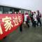 陕西农民工包机回家过年。146名在福州打工的陕西农民工从福州包机回家过年