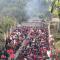 记者体验:雎水彩桥人挤人