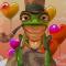 想去度假的小青蛙