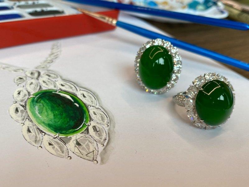 透明珠寶翡翠工廠華諾美術官方號正在直播