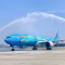 蓝胖子#进博号#飞机首航西安