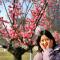 西安一梅园同树开出双色花 主播带你开元公园赏春#春天来看花#