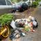 #华商直播帮 我为群众办实事#记者在现场!西安市梨园路垃圾随处见 人行道积水路难行