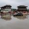 西安强降雨 大唐芙蓉园西门积水严重